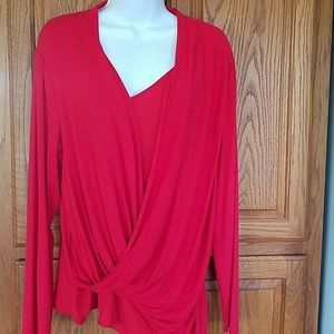 Vince Camuto asymmetrical knit top Lg